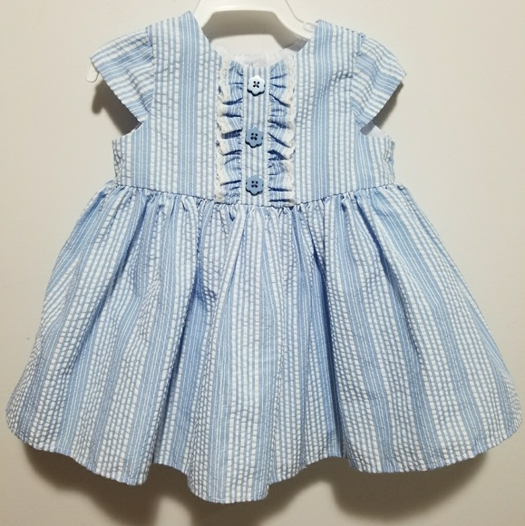 d8e34ccdec98c Marmellata Dresses | Blue And White Striped Baby Girl Dress | Poshmark
